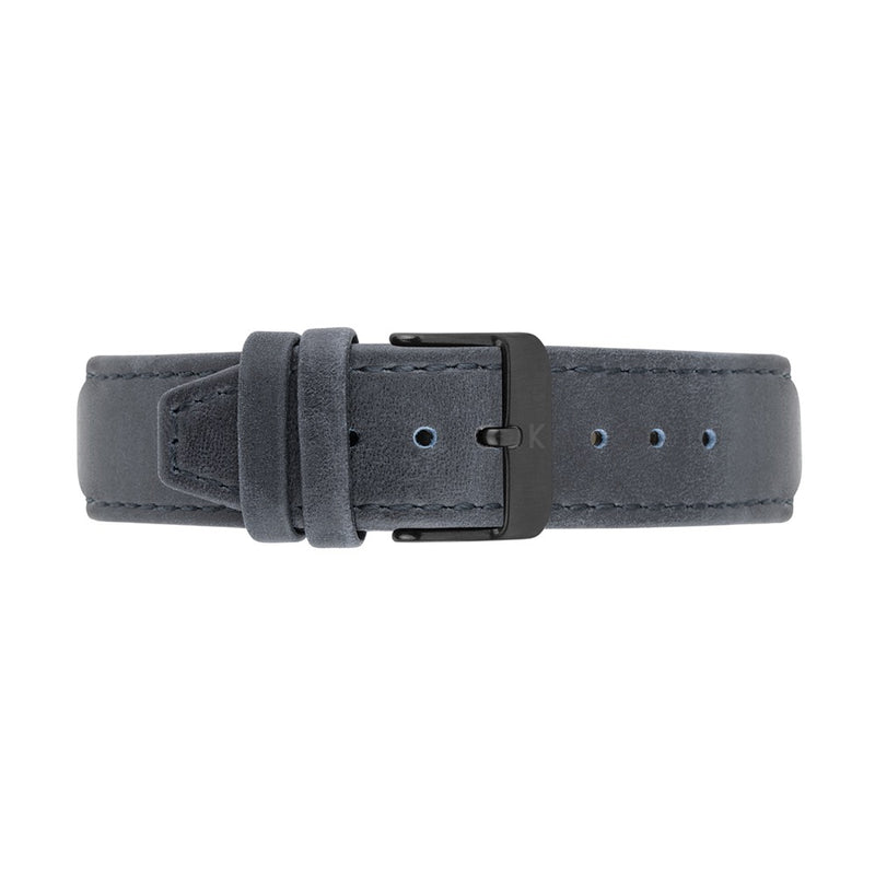 MORRIS 40mm Blue Leather Strap Watch