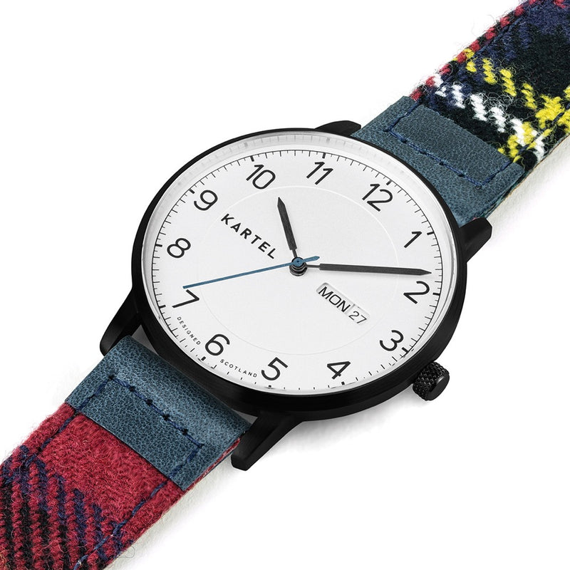 MORRIS 40mm Red Tartan Strap Watch
