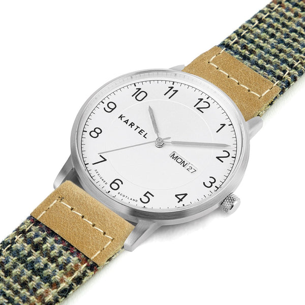 MORRIS 40mm Brown Fabric Strap Watch