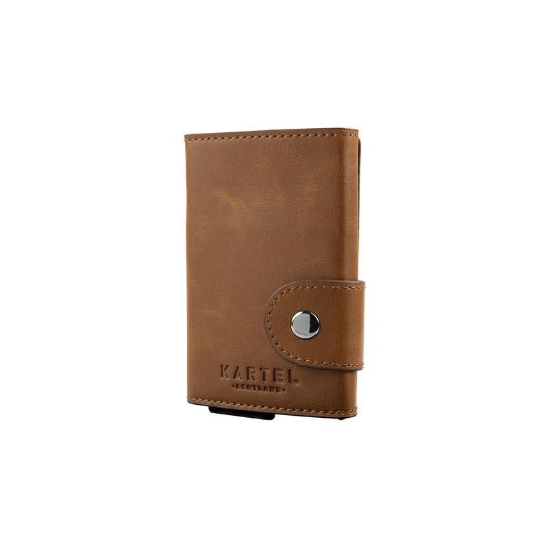 Brown Wallet With Metal Card Holder