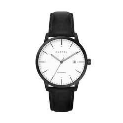 Cameron 41mm AUTOMATIC WATCH Black Stitch