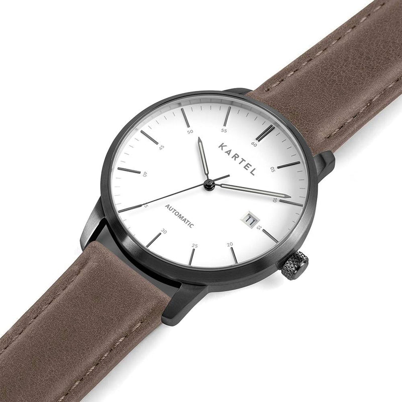 Cameron 41mm AUTOMATIC WATCH Brown Stitched
