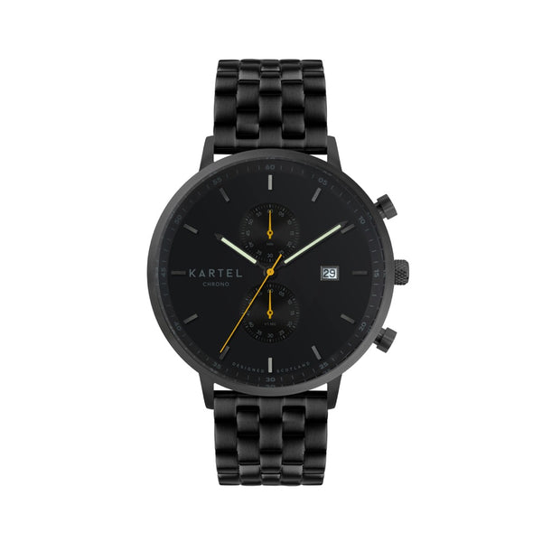 KNOYDART 43mm Black Metal Strap Watch
