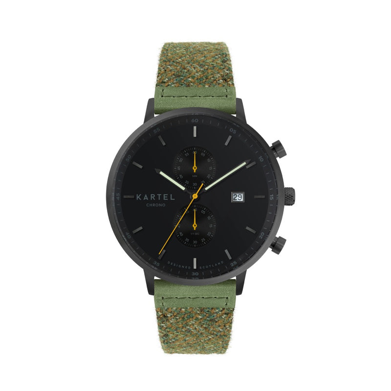 KNOYDART 43mm Green Fabric Strap Watch