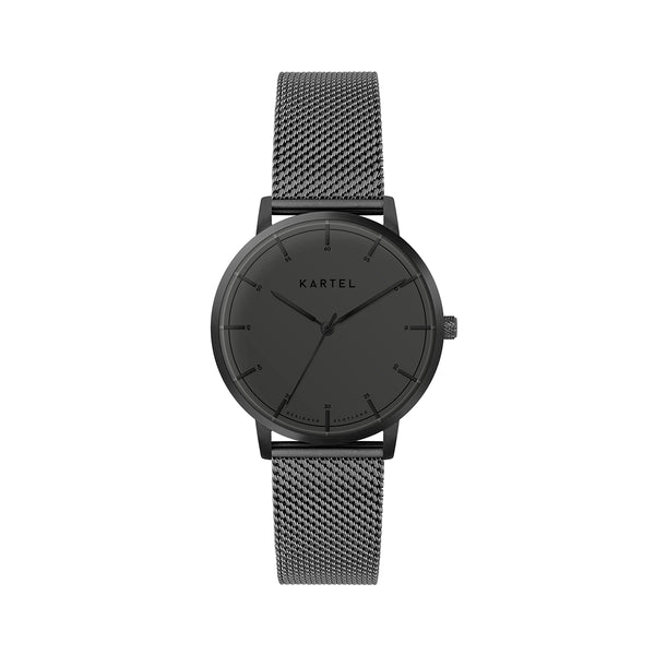 ISLA 34mm Black Chain Mesh Strap Watch