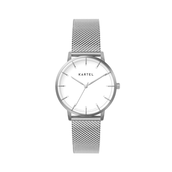 ISLA 34mm Silver Chain Mesh Strap Watch