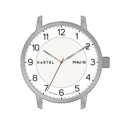 NUMBERS CASE  - SILVER/WHITE Watch Case - Kartel Scotland