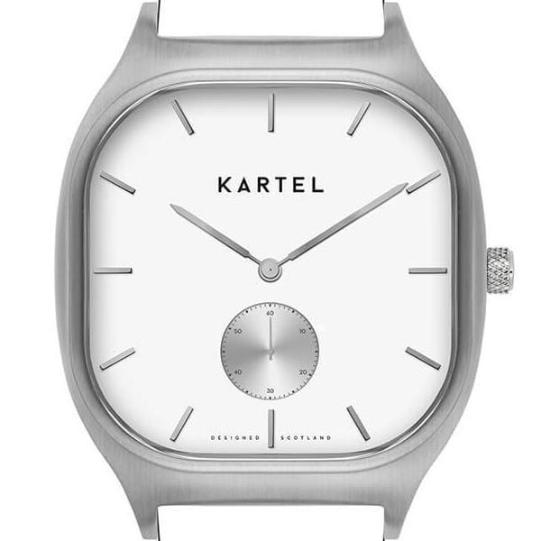 SINCLAIR CASE - SILVER/WHITE Watch Case - Kartel Scotland
