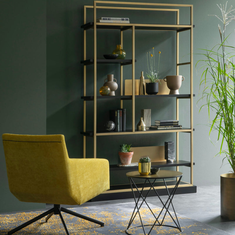 BRONXX - bronze metal book case
