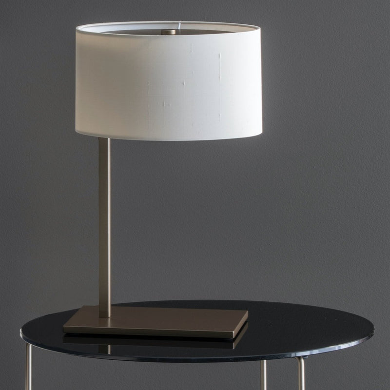 Modern Table Lamp with Lamp Shade and Metal Base