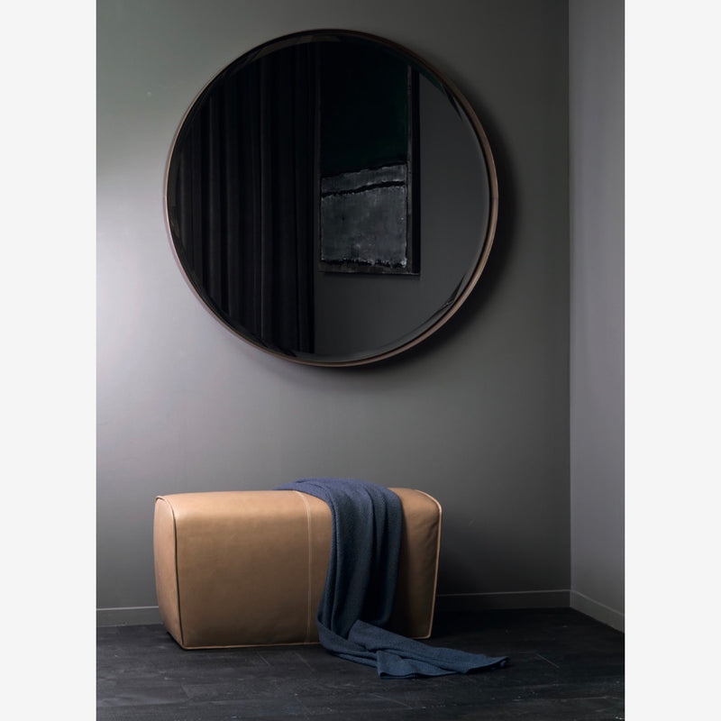large round hall way mirror
