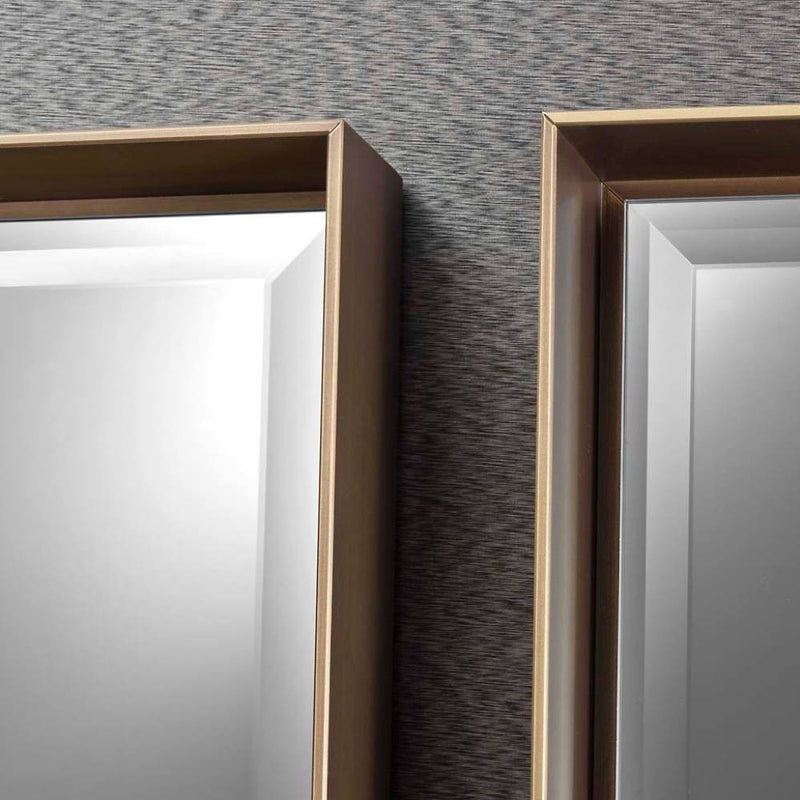 luxury mirror with metal frame