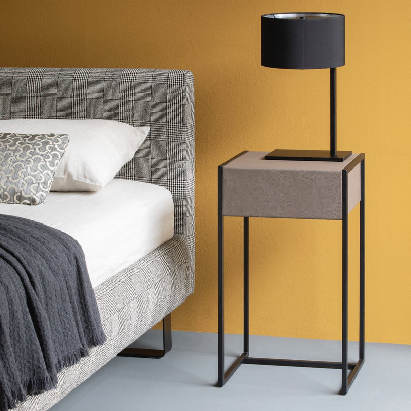Modern metal Bedside Table lamp with Lamp shade