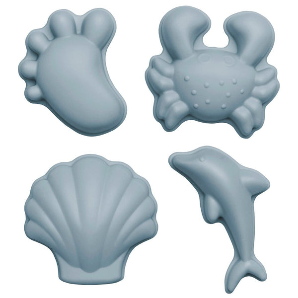 Set silikonskih modelčkov za mivko Moulds Scrunch - Duck Egg Blue