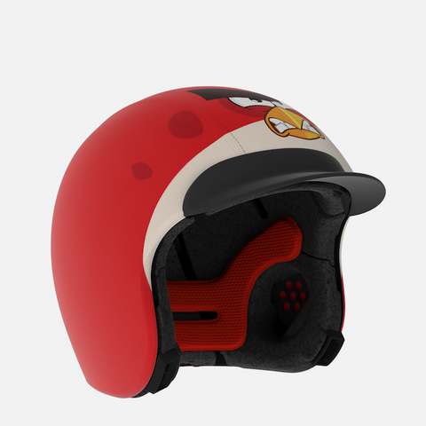 Komplet Otroške čelade EGG Helmets s Skinom Angry Birds - Red Bird in Add-onm Suncape