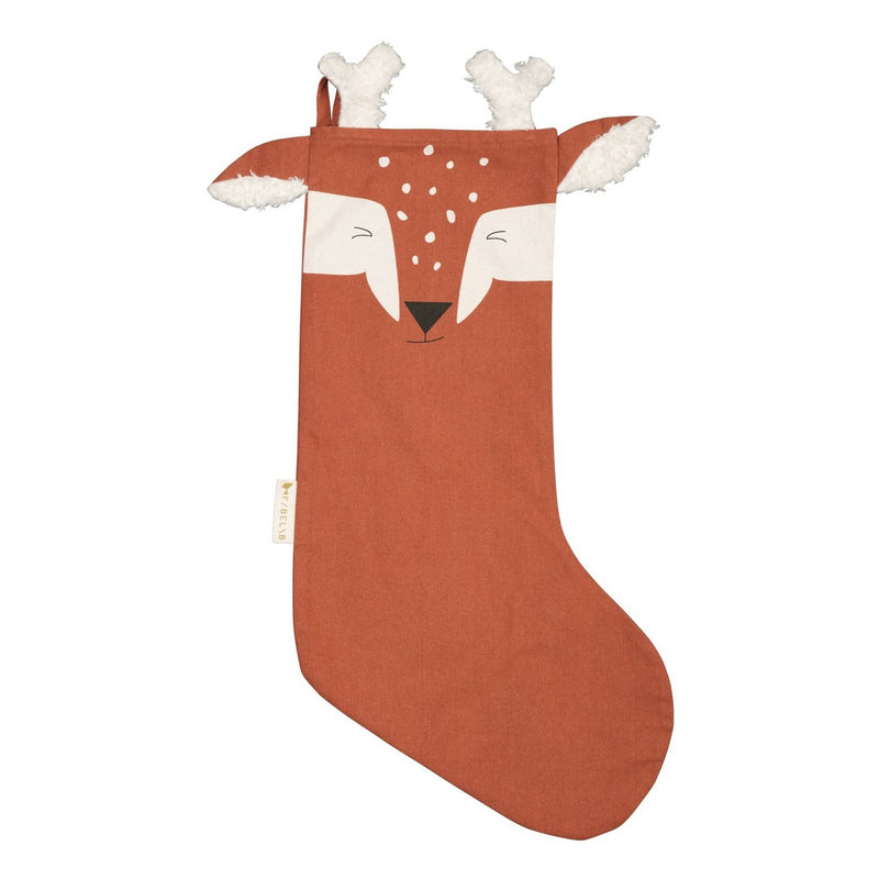 Božična nogavica Jelen Fabelab Christmas Stocking Animal Deer