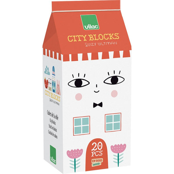 Lesene kocke Malo mesto Vilac x Suzy Ultman - Tiny City Blocks