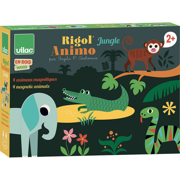 Lesene magnetne Živali za sestavljanje Vilac Magnetic Jungle Animals Rigol'animo Jungle - Ingela P. Arrhenius