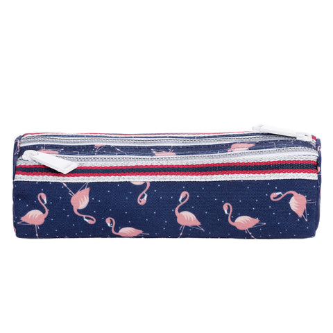 Otroška dvojna peresnica Pencil Case Double Jeune Premier - Flamingo