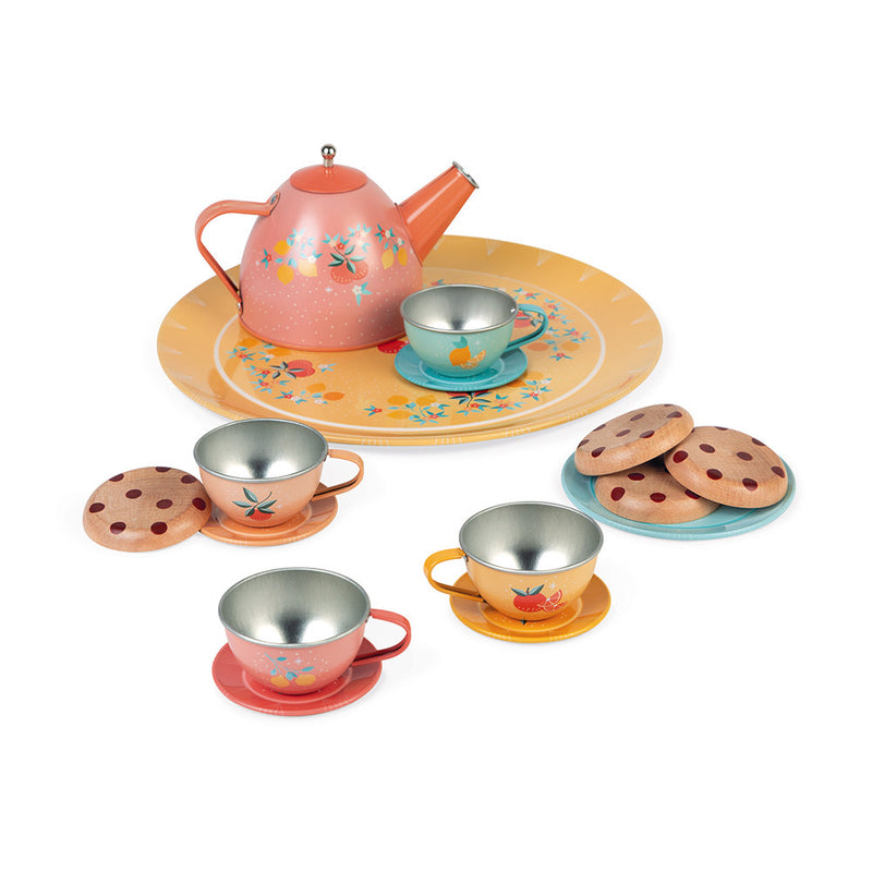 Otroški čajni set Janod Metal Tea Set Dinnerware