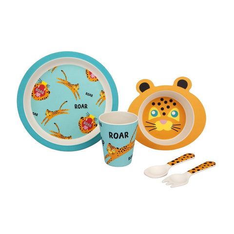 Otroški jedilni komplet Sunnylife Kids Eco Meal Kit - Jungle