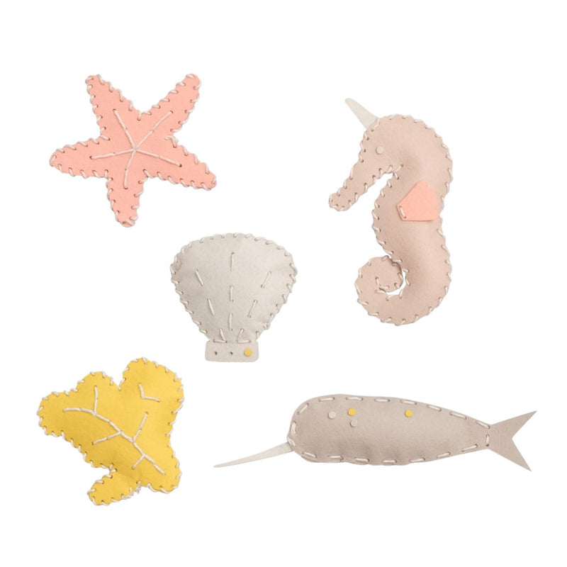 Ustvarjalni komplet Šivanje Morska bitja Fabelab Mini Makers - Sea Creature Craft