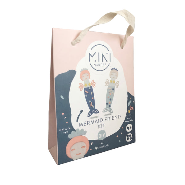 Ustvarjalni komplet za izdelavo Morskih deklic Fabelab Mini Makers - Mermaid Friend Kit