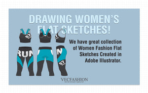 Draw Women's Fashion Flats with Vector Graphics