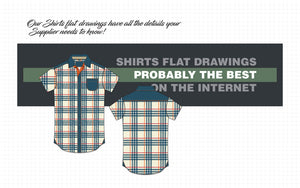 flat drawings shirts vector