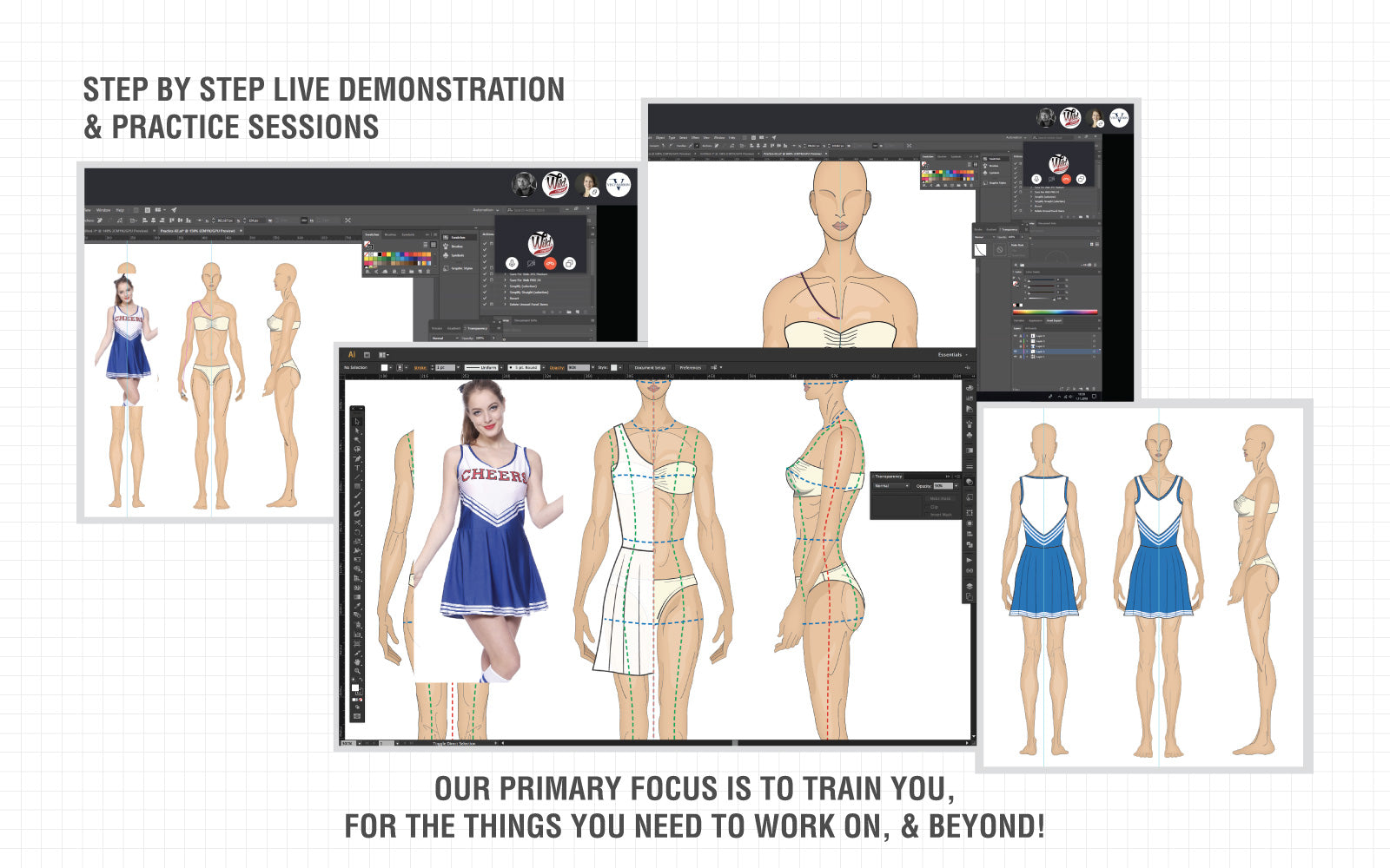 online fashion design cad classes live training sessions