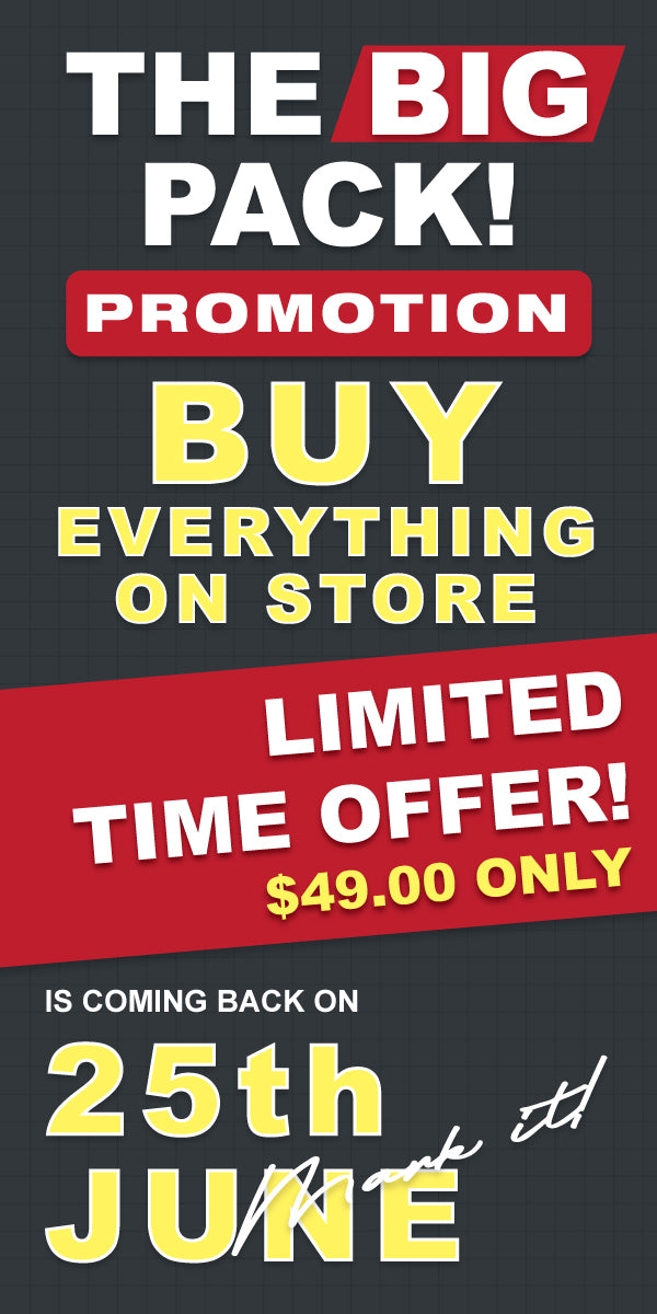 the big pack promotion - buy everything on store