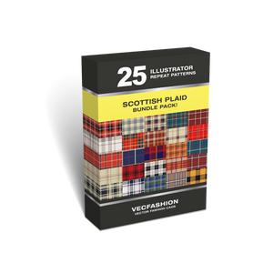 25 Scottish Plaids Seamless Patterns Value Pack!