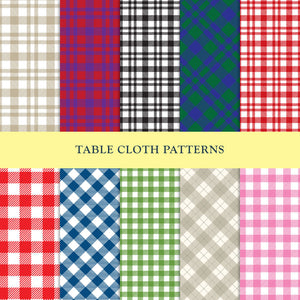Set of 10 Classic Table Cloth Patterns