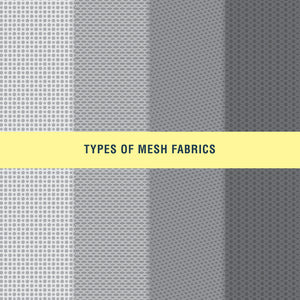 Types of Mesh Fabrics repeat patterns