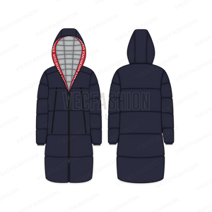 Men's Puffer Jacket with Oversized Hood