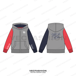 Teen Boys Color Blocked Hoodie