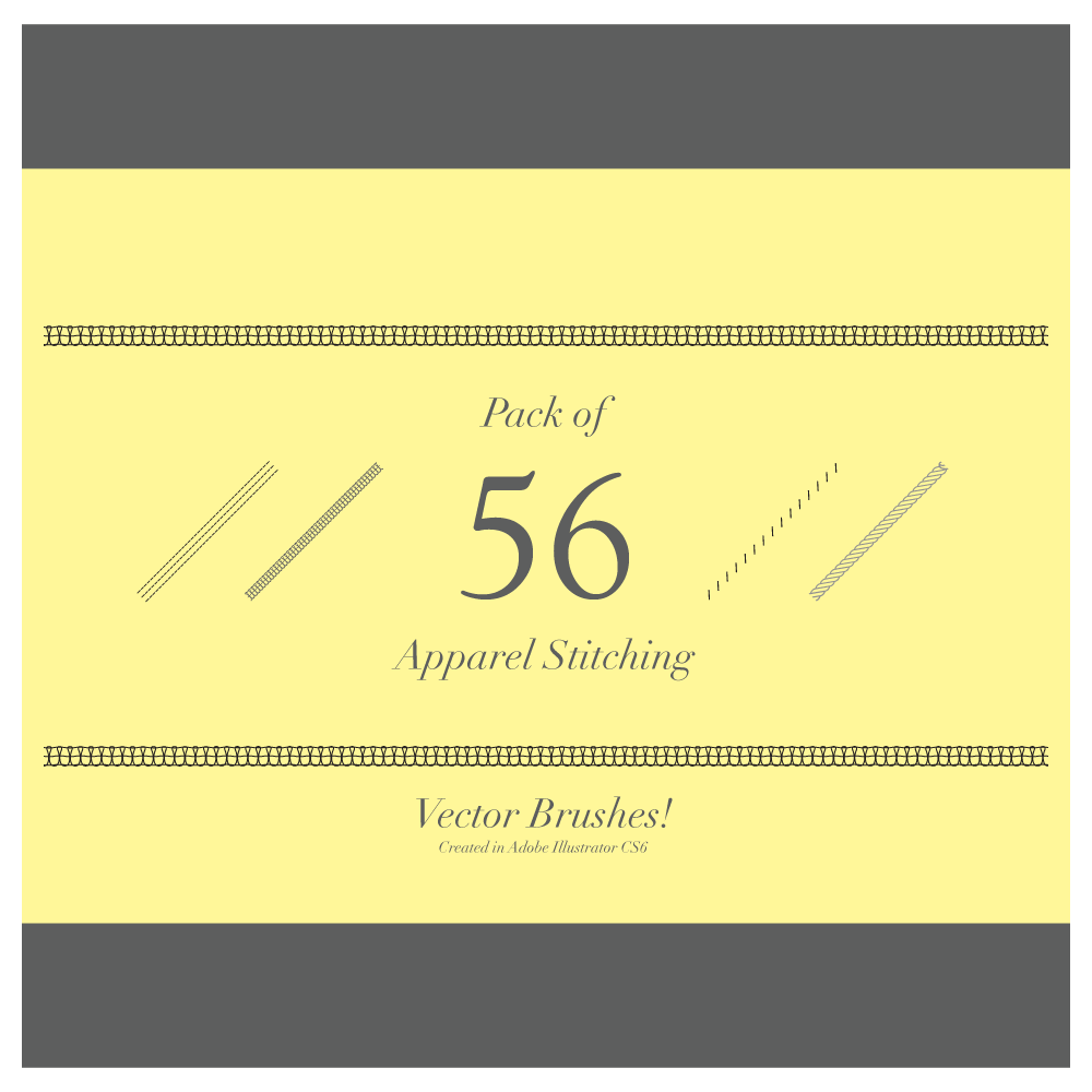Pack of 56 apparel stitching vector brushes vecfashion pack of 56 apparel stitching vector brushes stopboris Images