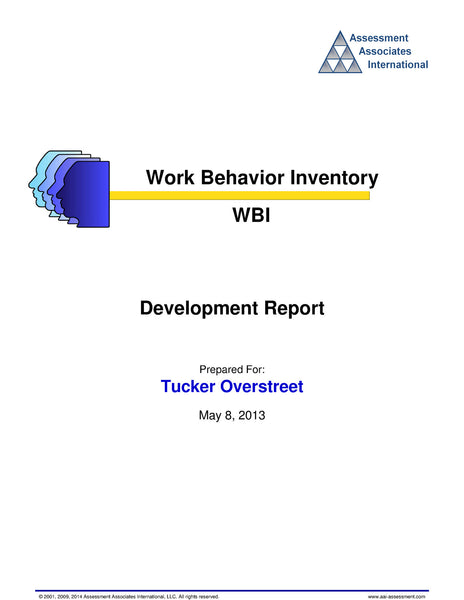 Work Behaviour Inventory (WBI)