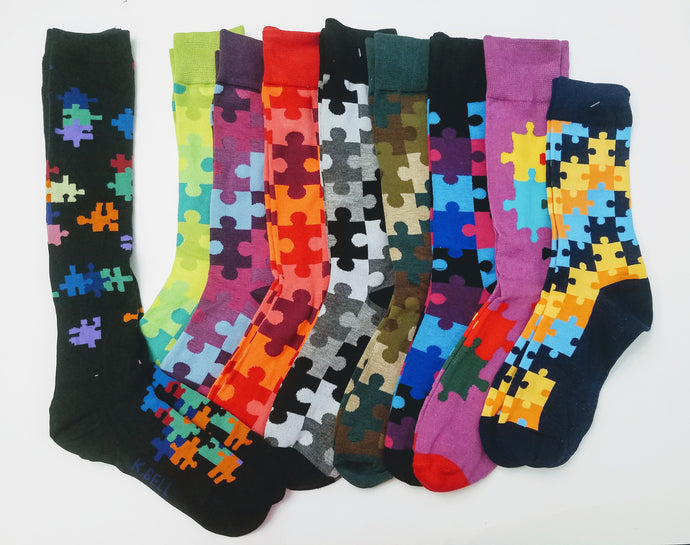 Autism Awareness Puzzle Socks