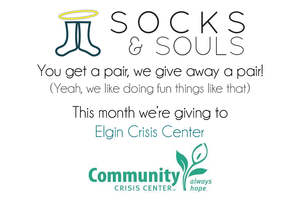 Socks Donations for the Elgin Community Crisis Center