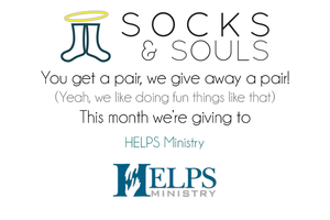 Socks Donations for H.E.L.P.S. Ministry