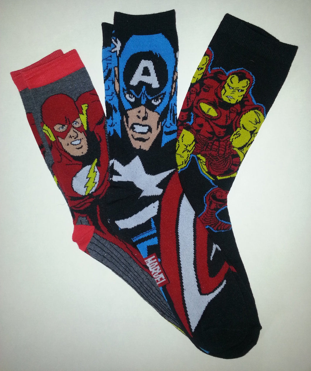 Superhero 3 Pairs of Random Crew Socks