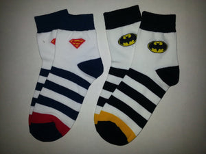 Superman Striped Crew Socks