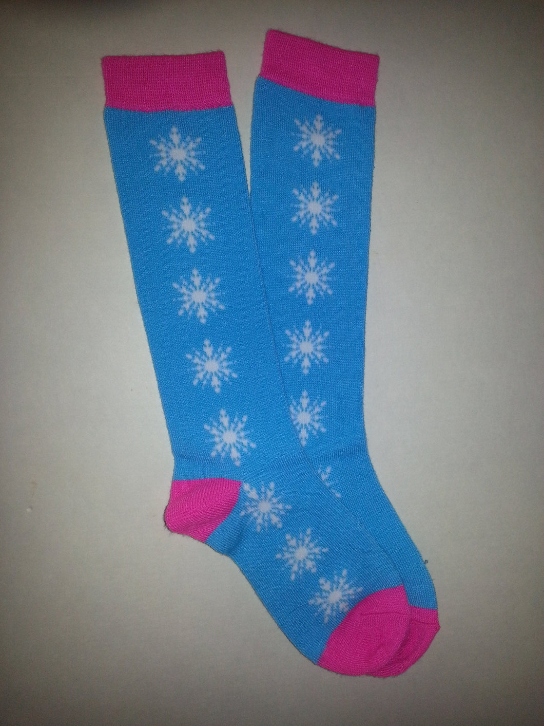 Snowflake Knee High Socks