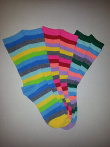 Random Pair of Striped Crew Socks