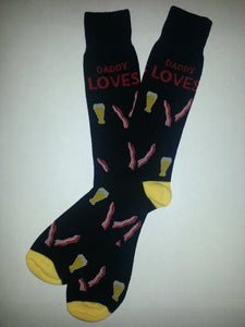 Beer w/ Bacon Love Crew Socks
