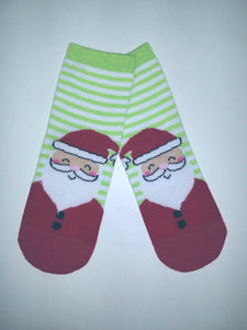 Santa Head Crew Socks