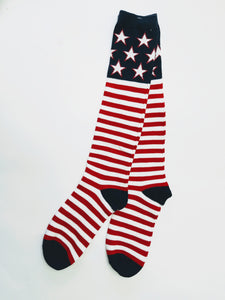 Stars & Stripes Flag Knee High Socks