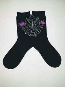 Spider with Web Crew Socks