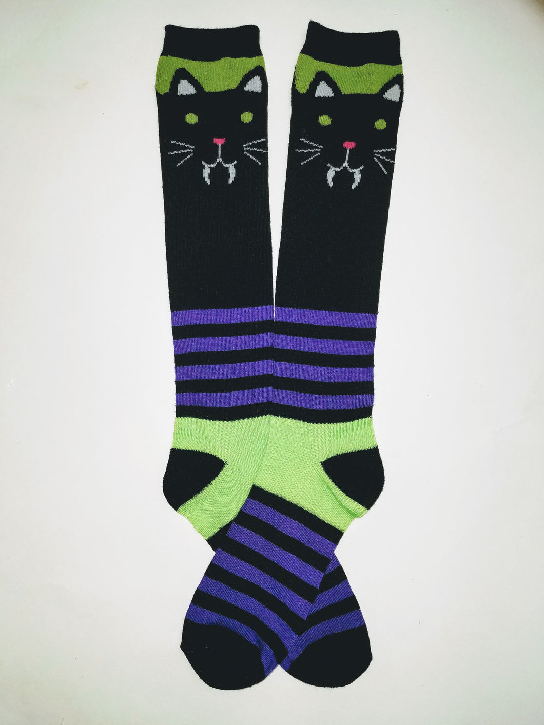 Cat Vampire Knee High Socks